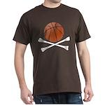 Basketball and Crossbones Dark T-Shirt