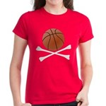 Basketball and Crossbones Women's Dark T-Shirt