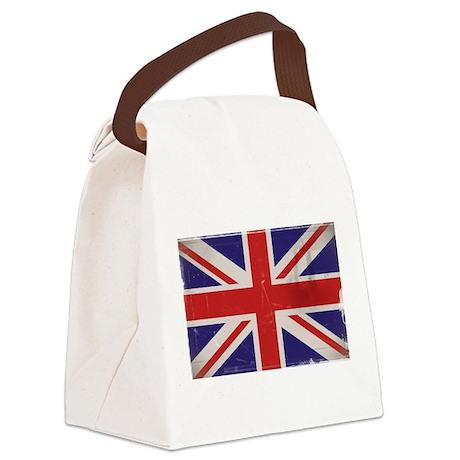 antiqued UK flag Canvas Lunch Bag