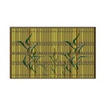 Tropic Bamboo Decor 35x21 Wall Decal