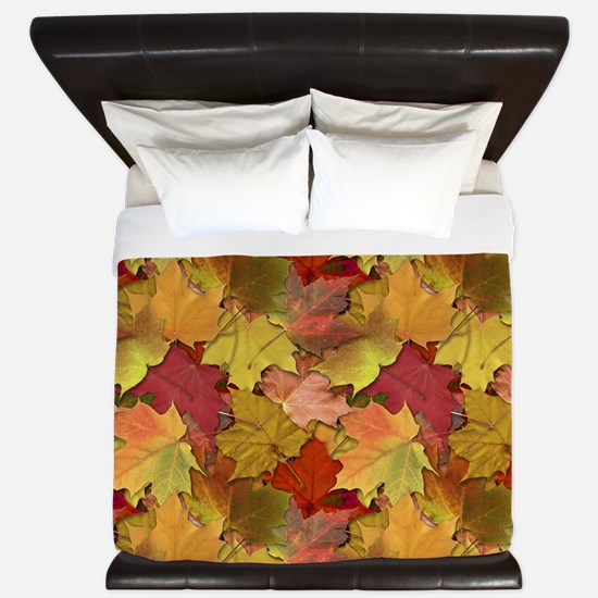 Fall Leaves King Duvet