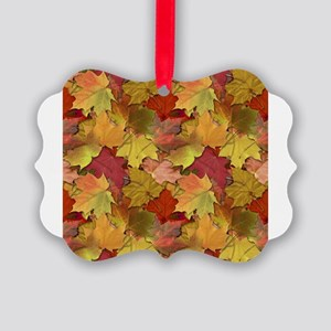 Fall Leaves Picture Ornament