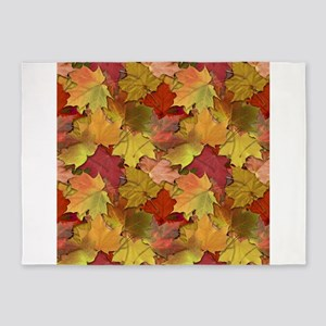 Fall Leaves 5x7Area Rug