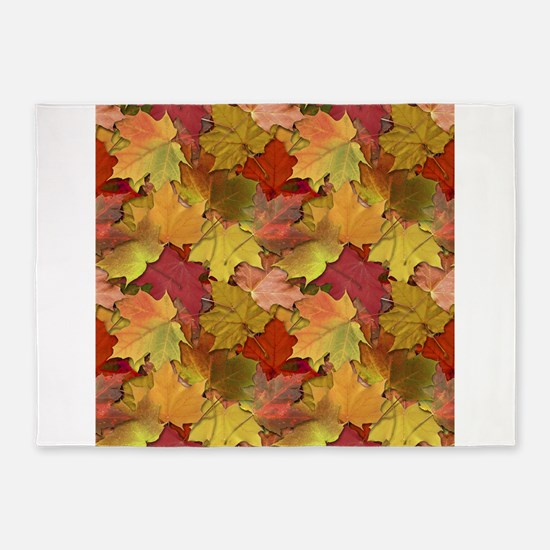 Fall Leaves 5x7Area Rug
