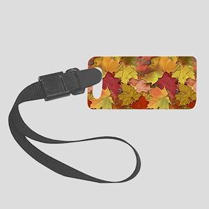 Fall Leaves Small Luggage Tag