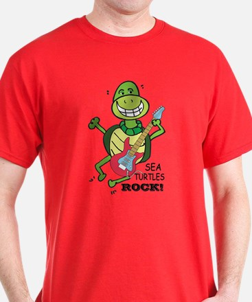 SEA TURLTES ROCK T-Shirt
