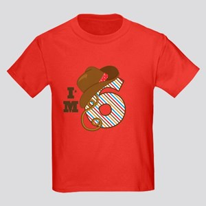 6 Year Old Cowboy Kids Dark T-Shirt
