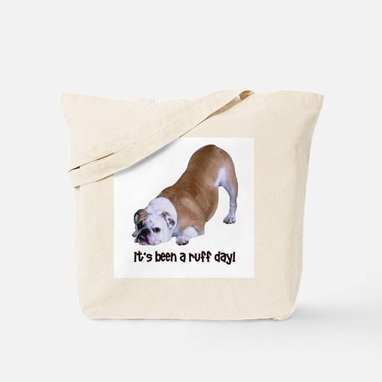 Bulldog Ruff Day Tote Bag