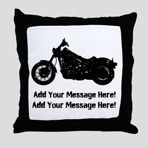 Personalize It, Motorcycle Throw Pillow