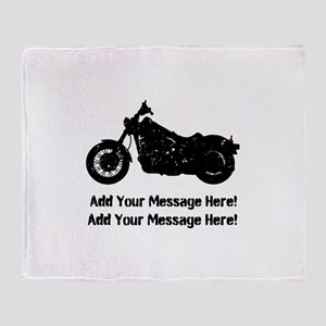Personalize It, Motorcycle Throw Blanket