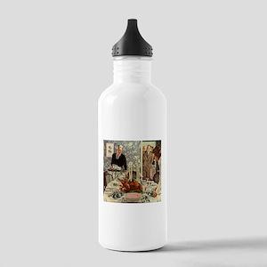 Vintage Thanksgiving Dinner Water Bottle