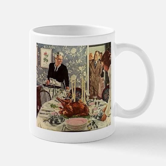 Vintage Thanksgiving Dinner Mugs