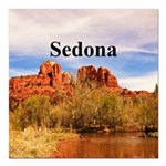 "Sedona Square Car Magnet 3"" x 3"""