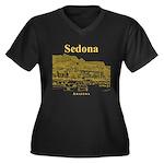 Sedona Women's Plus Size V-Neck Dark T-Shirt