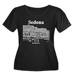 Sedona Women's Plus Size Scoop Neck Dark T-Shirt