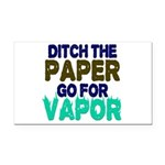 Ditch the Paper Rectangle Car Magnet