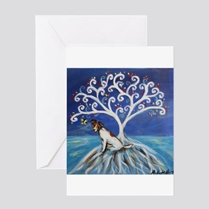 Jack Russell Terrier Tree Greeting Cards
