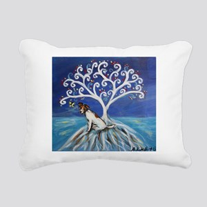 Jack Russell Terrier Tree Rectangular Canvas Pillo