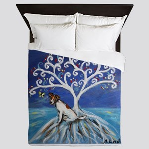 Jack Russell Terrier Tree Queen Duvet
