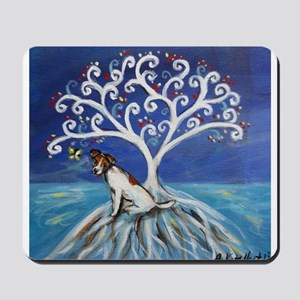 Jack Russell Terrier Tree Mousepad