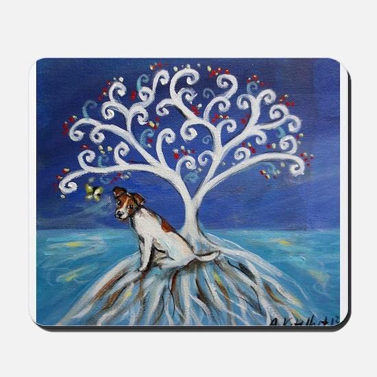 Jack Russell Terrier Tree Mousepad