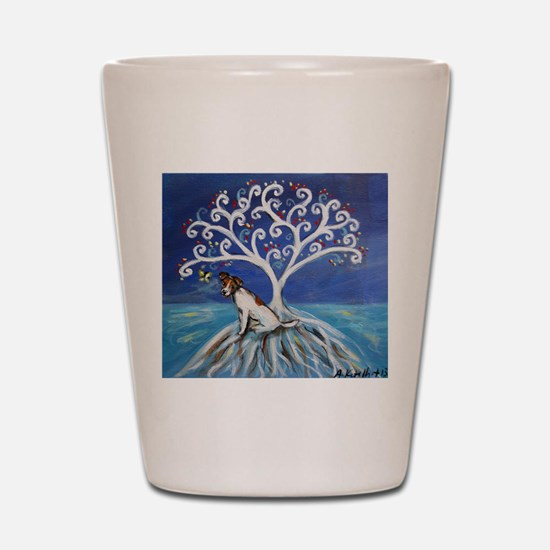Jack Russell Terrier Tree Shot Glass