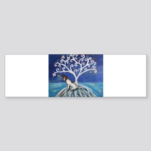 Jack Russell Terrier Tree Bumper Sticker