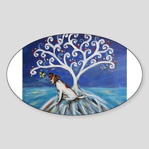 Jack Russell Terrier Tree Sticker