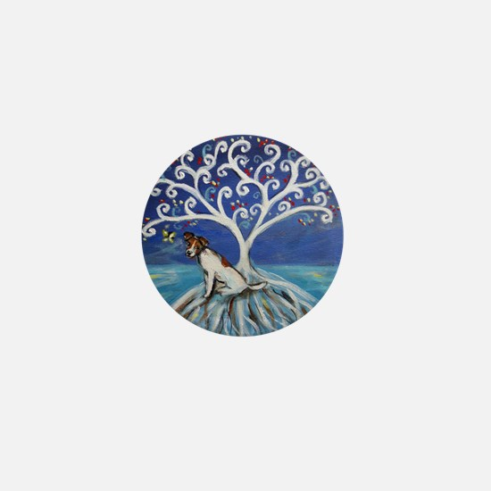 Jack Russell Terrier Tree Mini Button