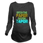 Ditch the Paper Long Sleeve Maternity T-Shirt