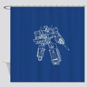 Optimus Prime Shower Curtain