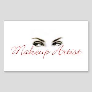 Makeup Artist Rectangle Sticker