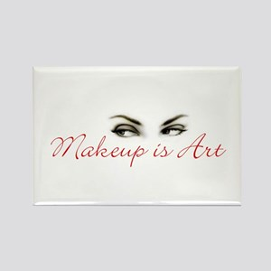 Makeup is Art Rectangle Magnet