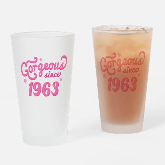 Gorgeous Since 1963 Drinking Glass