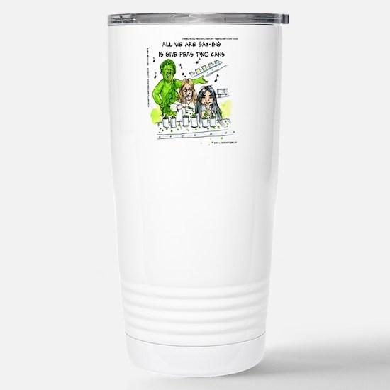 Give Peas 2 Cans Travel Mug