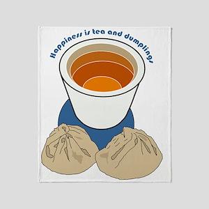 Tea and Dumplings Throw Blanket