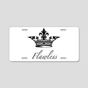 Flawless Crown Aluminum License Plate