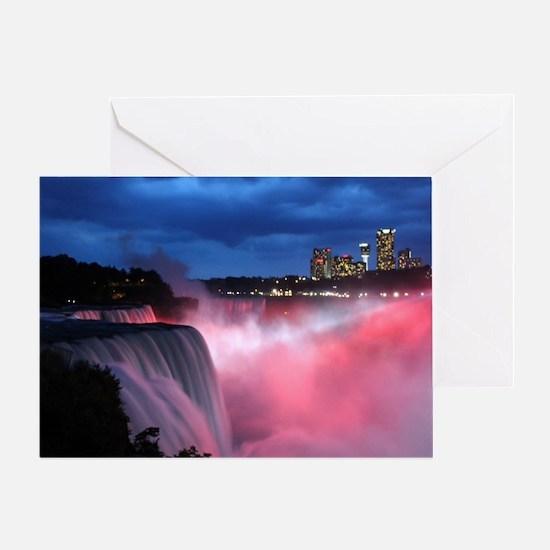 Niagara Falls at Night Greeting Card