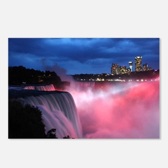 Niagara Falls at Night Postcards (Package of 8)