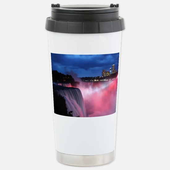 Niagara Falls at Night Stainless Steel Travel Mug