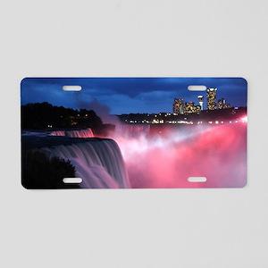 Niagara Falls at Night Aluminum License Plate