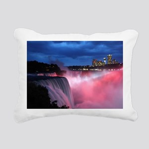 Niagara Falls at Night Rectangular Canvas Pillow