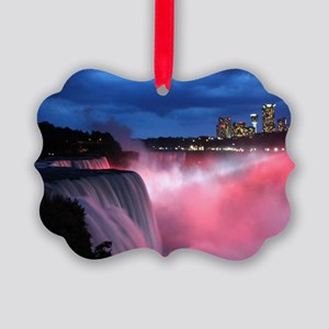 Niagara Falls at Night Picture Ornament