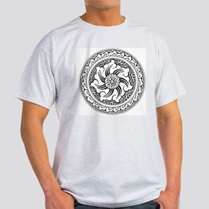 Turkish Folk Art Ash Grey T-Shirt