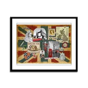 Anglophile's Framed Panel Print
