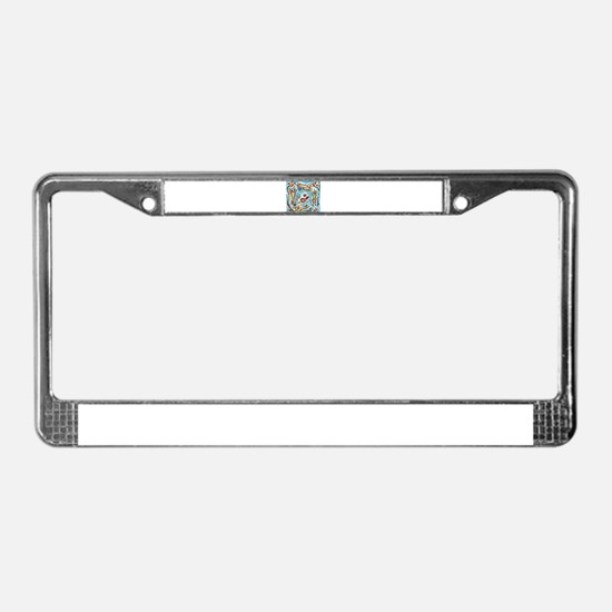 Chihuahuas dance love hearts License Plate Frame