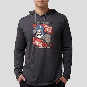 Optimus Prime vs Megatron Mens Hooded Shirt