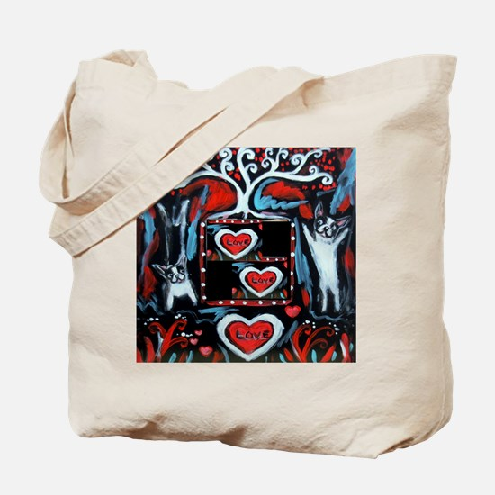 Boston Terrier love happy dance Tote Bag
