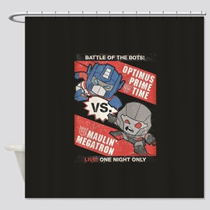 Optimus Prime vs Megatron Shower Curtain
