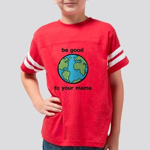 Taking Care of Mom Youth Football Shirt